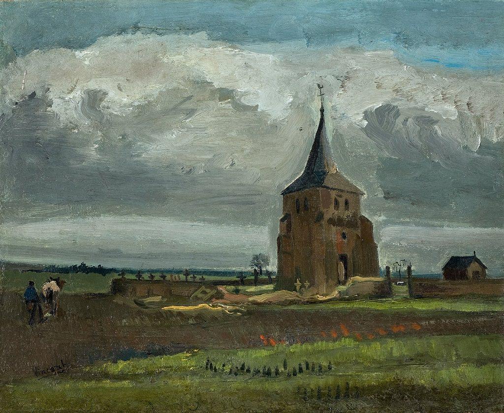 Vincent Van Gogh, La vecchia torre di Nuenen, 1884, mostra Padova
