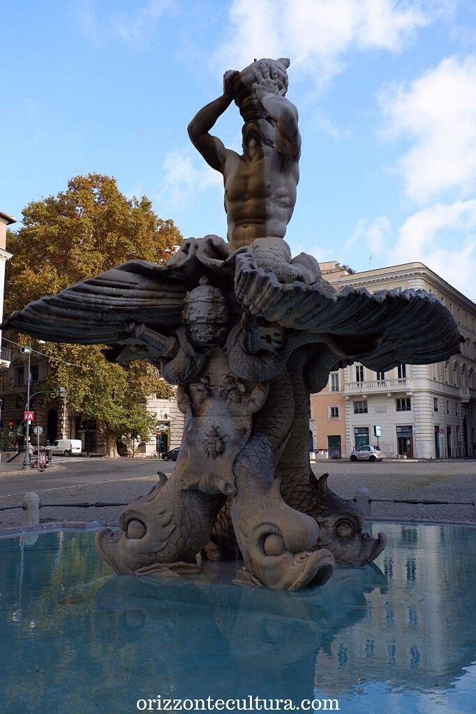 Fontana del Tritone in piazza Barberini, itinerario opere Bernini Roma