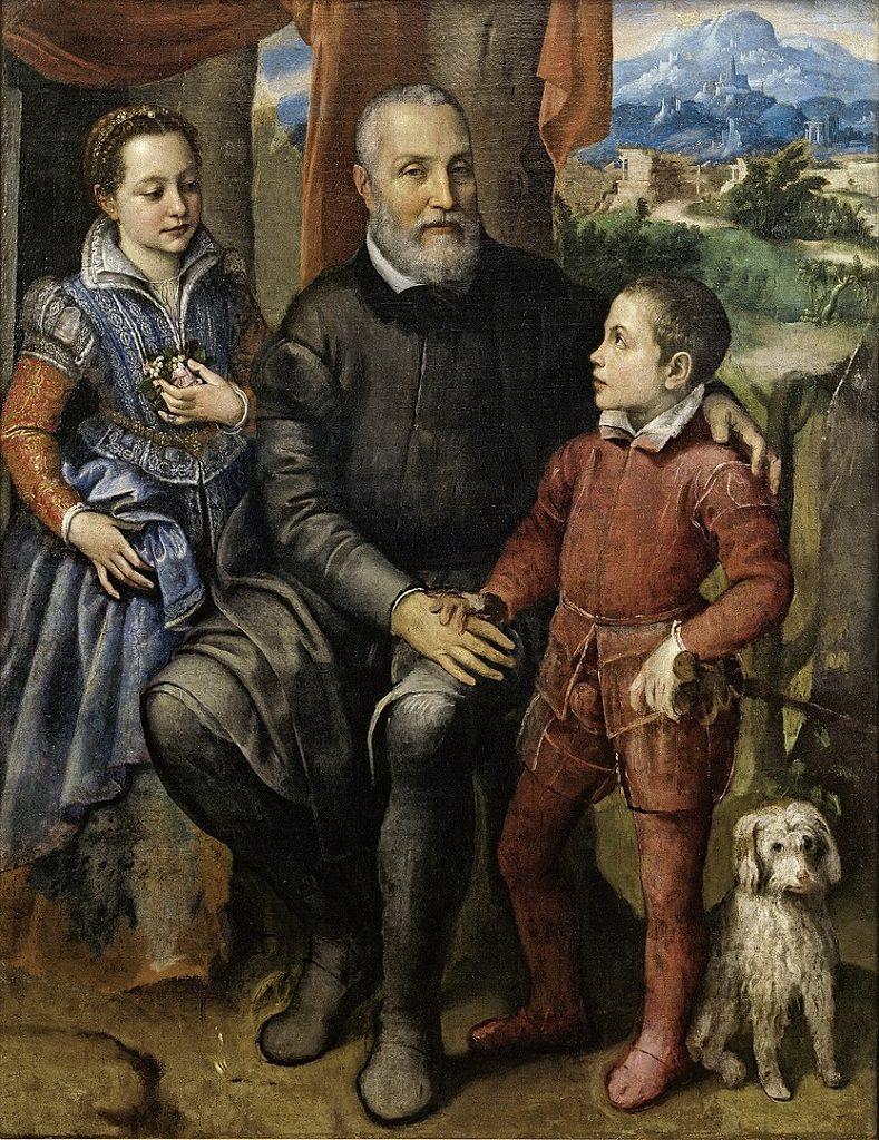 Sofonisba Anguissola, Ritratto di famiglia, Minerva, Amilcare e Asdrubale Anguissola