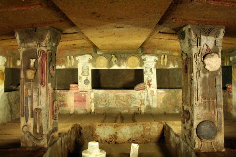 Tomba dei rilievi, Necropoli della Banditaccia, Cerveteri, Patrimonio dell'Umanità