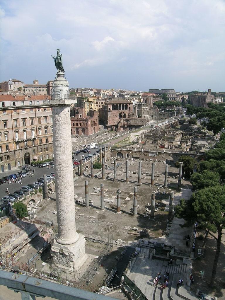 via Alessandrina vista dall'alto, Fori Imperiali