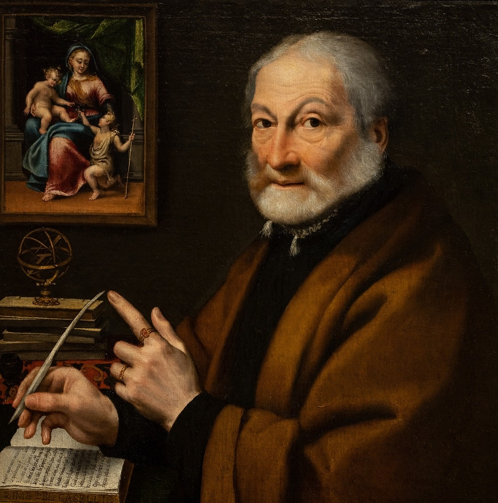 Sofonisba Anguissola Ritratto del poeta Giovan Battista Caselli, opere mostra Palazzo Barberini