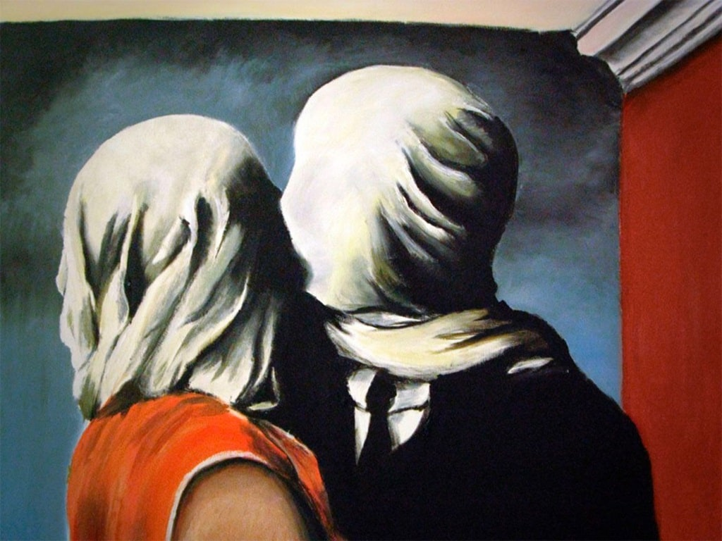 Magritte, Gli amanti, amore in 15 baci