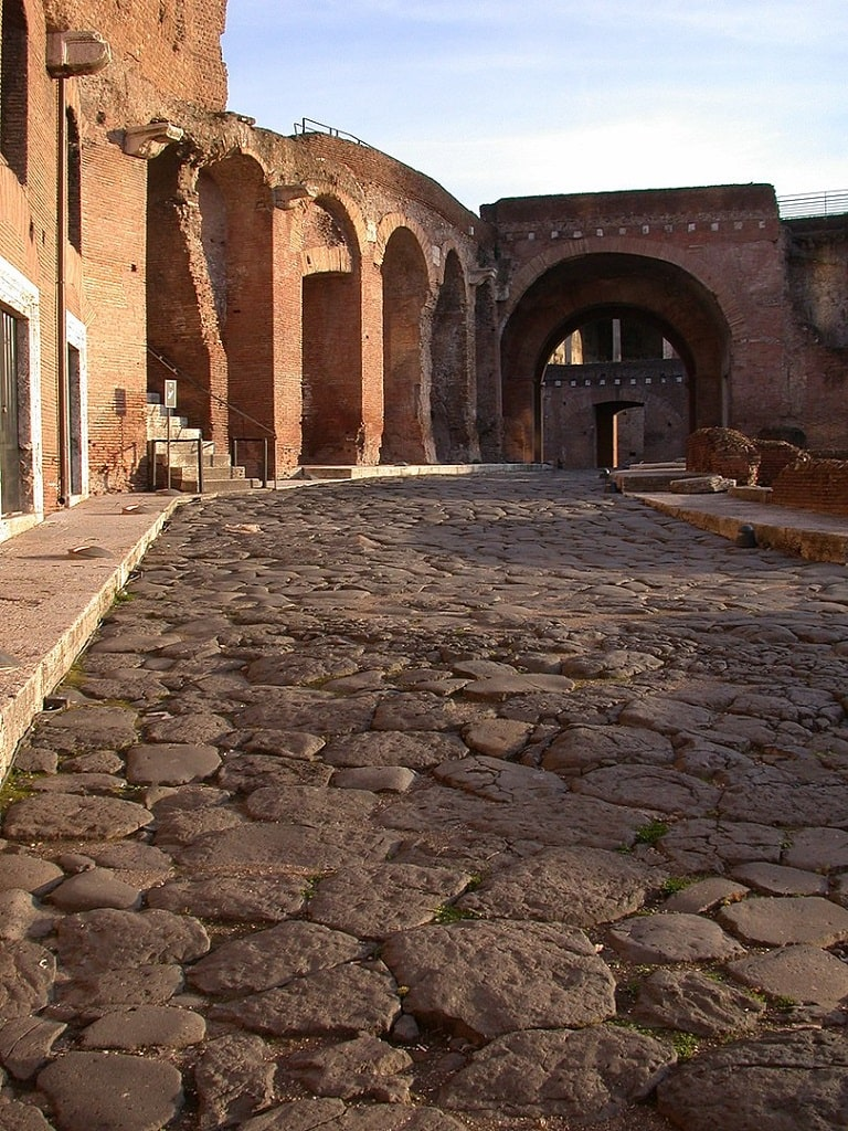Mercati di Traiano, Via Biberatica Roma