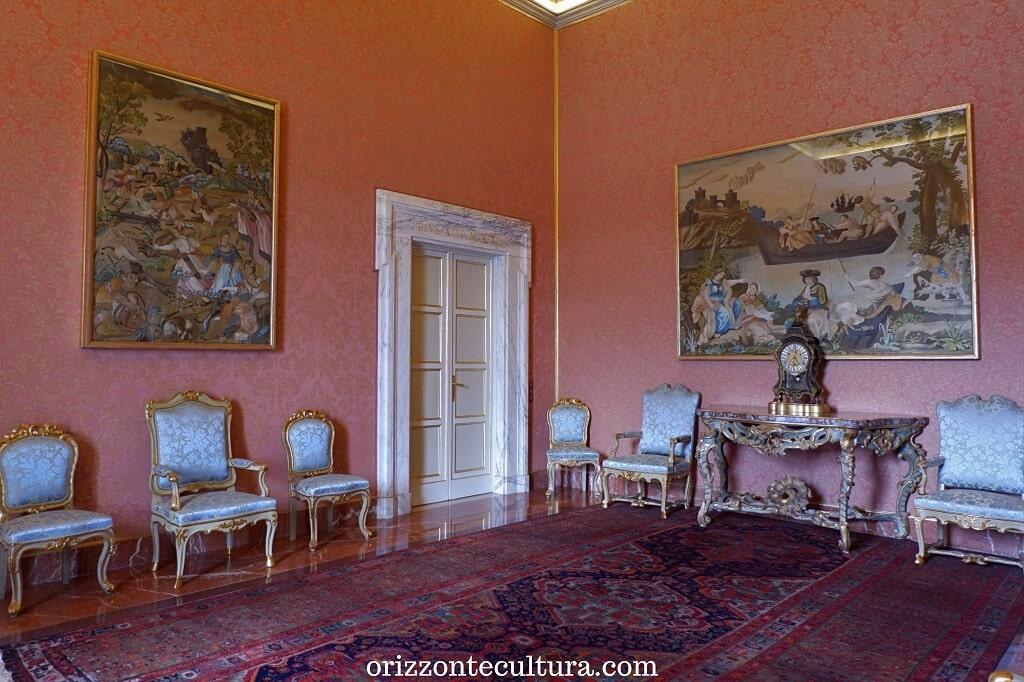Una sala del Palazzo Apostolico di Castel Gandolfo