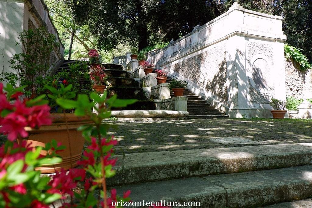 La Scalinata delle Undici Fontane, cosa vedere all'Orto Botanico di Roma