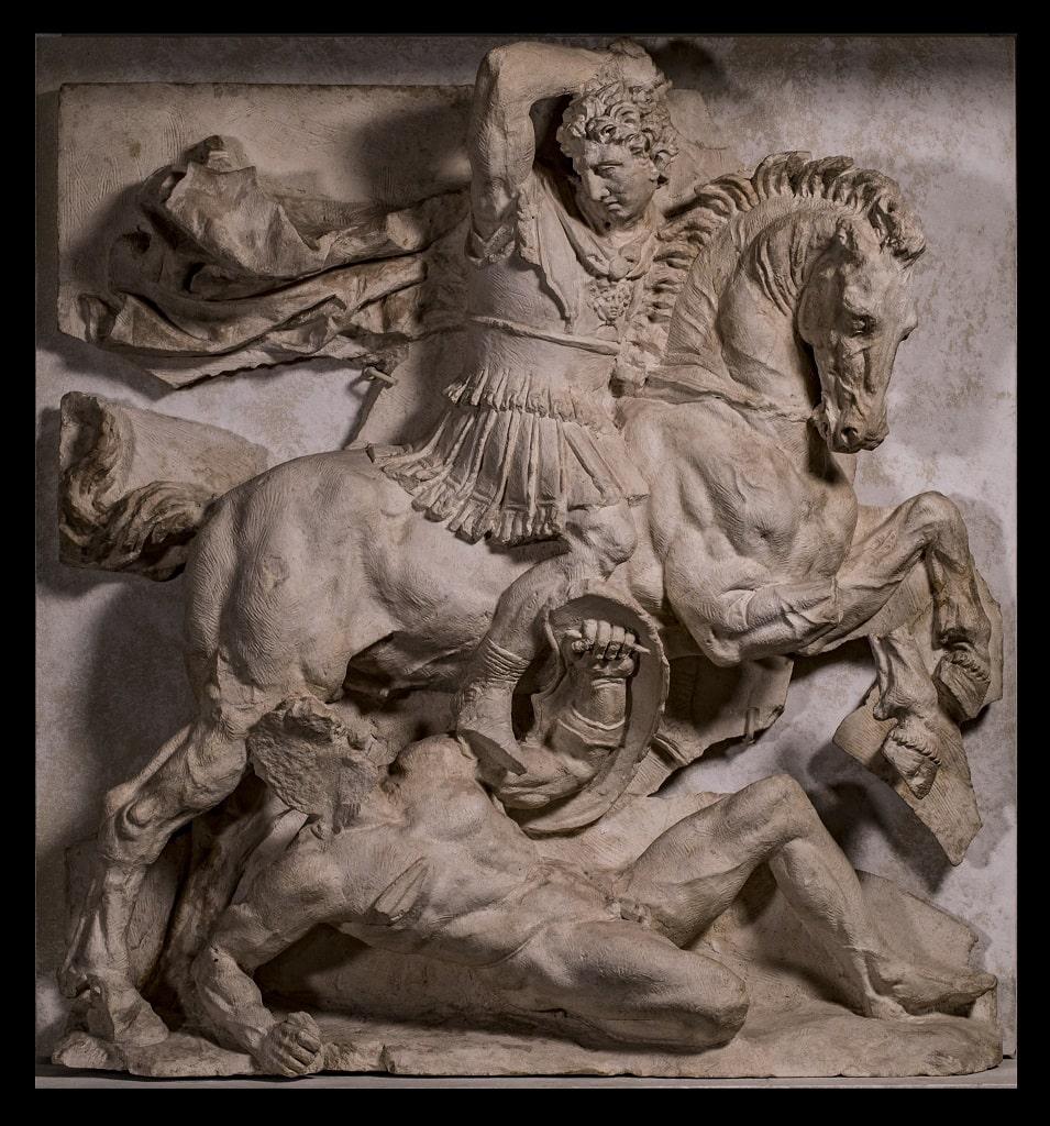Rilievo con scena di battaglia tra un caliere greco e un persiano