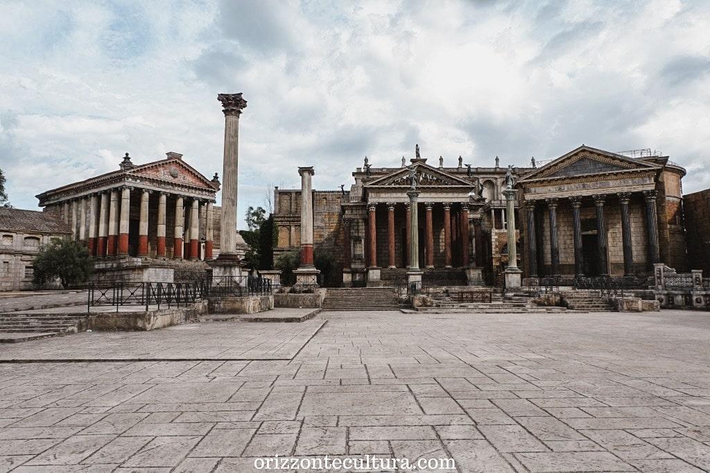 Uno scorcio dal set permanente dell'Antica Roma a Cinecittà, come visitare i set permanenti di Cinecittà