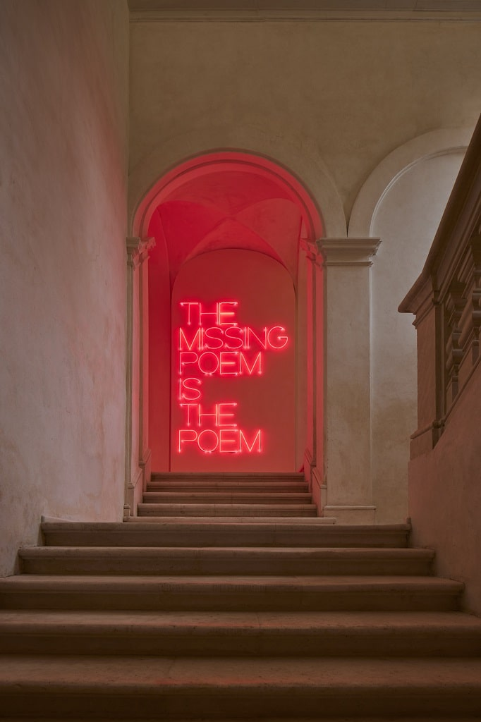 Maurizio Nannucci, The missing poem is the poem, MAXXI L'Aquila