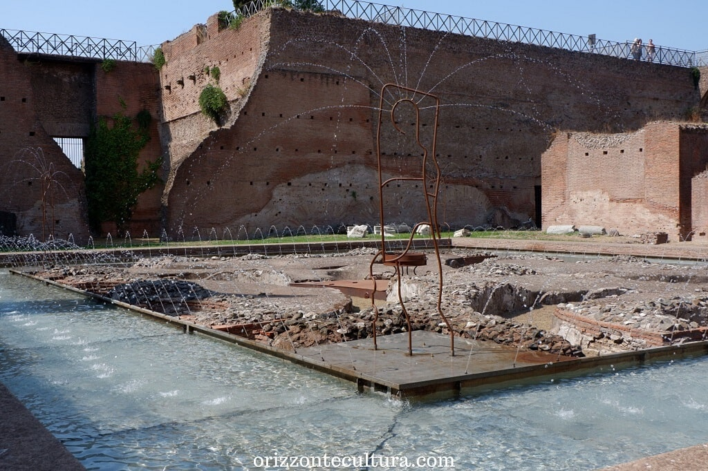 La Fontana delle Pelte in funzione al Palatino, Fontana delle Pelte Domus Augustana