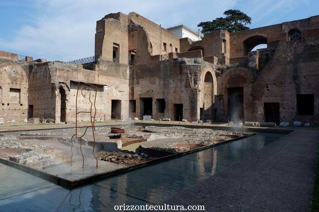 L'acqua della Fontana delle Pelte torna a scorrere nella Domus Augustana