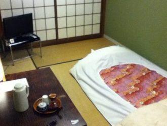Una tipica stanza di un ryokan di medio livello: Murataya Riokan