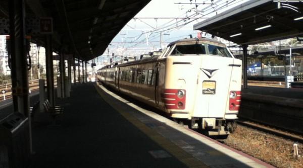Il treno espresso 'Thunderbird' Kyoto-Kanazawa