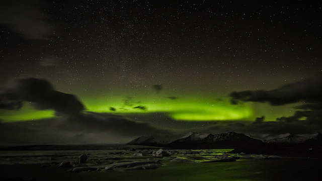 Aurora Boreale, Islanda Foto di Claudia Regina, da Flickr