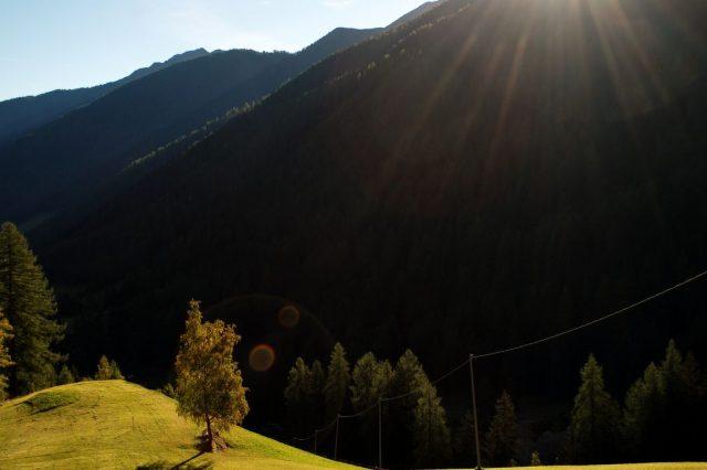 Il sole scende sulla Val D'Ultimo