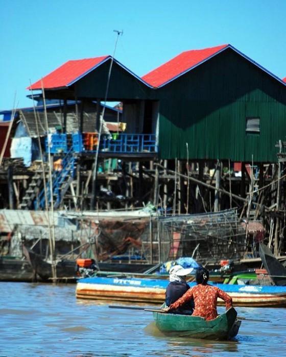 Villaggio sul lago Tonle Sap, Kompong Khleang