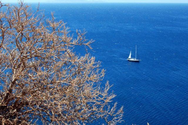 Il mare di Capo Sunio, visto dal tempio di Poseidone