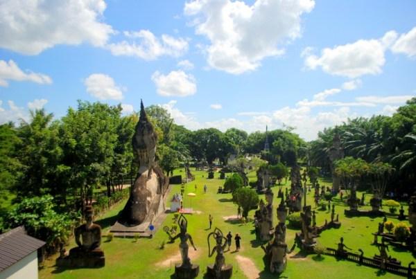 Buddha Park, dall'alto della zucca (foto di Patrick Colgan, 2014)