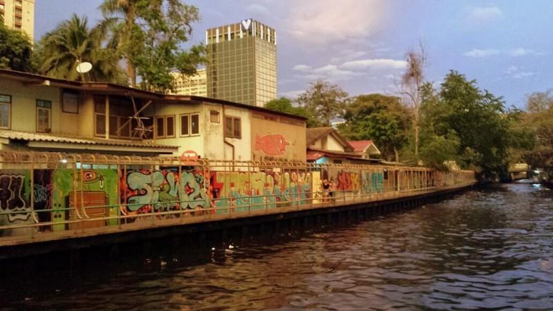 Canale a Bangkok, vicino alla James Thopson's house