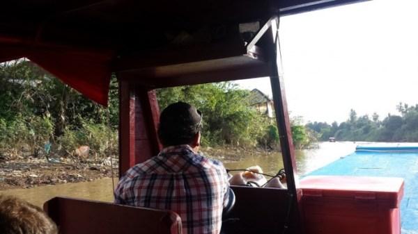 La navigazione sul fiume Sangker