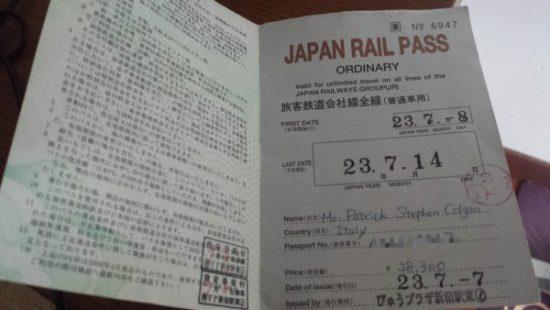 come usare il Japan Rail Pass