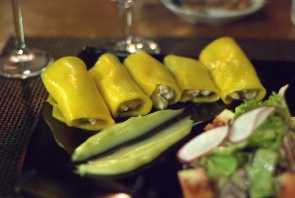 La Noria: involtini di mango e granchio