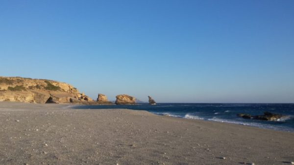 Beaches of Crete: the three rocks of Triopetra (photo by Patrick Colgan, 2016)