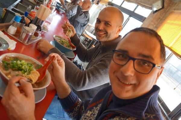 Patrick Colgan and Danilo Benci at Fuji Ramen