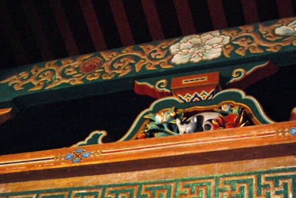 Il nemuri neko, il famoso gatto addormentato di Hidari Jingoro