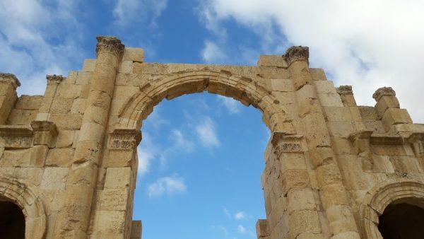 L'ingresso a Jerash