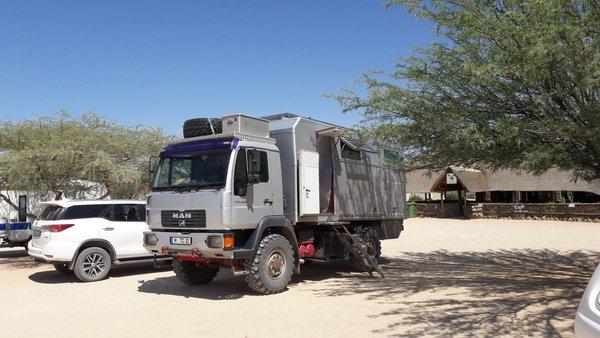 Camper truck in Namibia