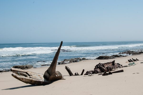 I resti della South West Sea, Skeleton Coast, Namibia