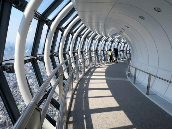 L'osservatorio a spirale del Tokyo Skytree