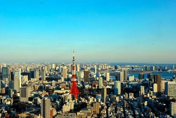 Tokyo dall'alto e la Tokyo Tower
