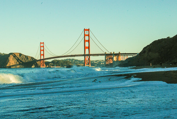 Il Golden Gate visto da Baker Beach