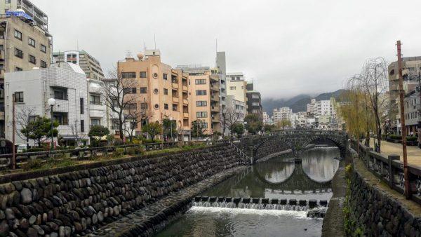 Il ponte degli occhiali, XVII secolo, Nagasaki (foto di Patrick Colgan, 2018)