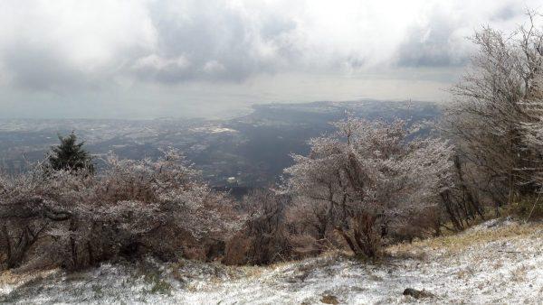 close to the peak of mount Unzen