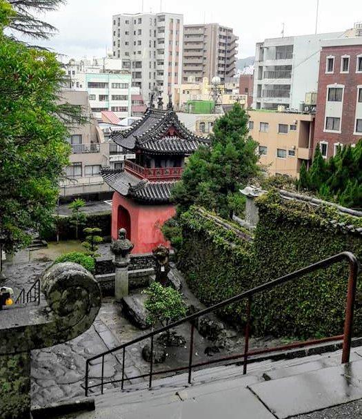 L'ingresso del tempio cinese di Nagasaki