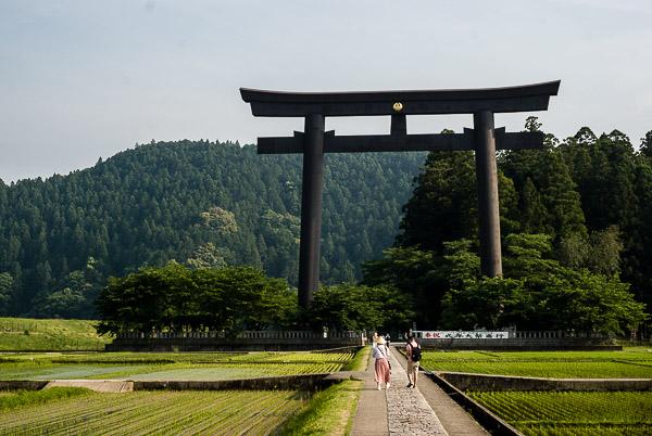 Il grande torii di Hongu