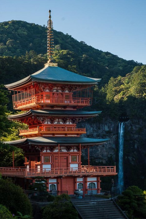 La pagoda e la cascata di Nachi, al termine del percorso