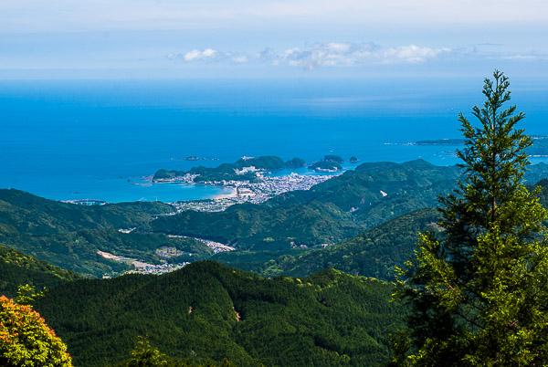 Katsuura vista dal sentiero