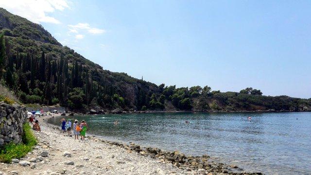 La spiaggia di Kalamitsi
