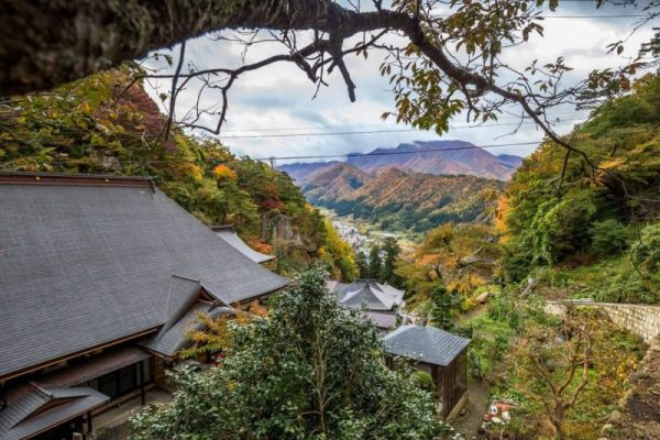 Yamadera, la vista dall'alto