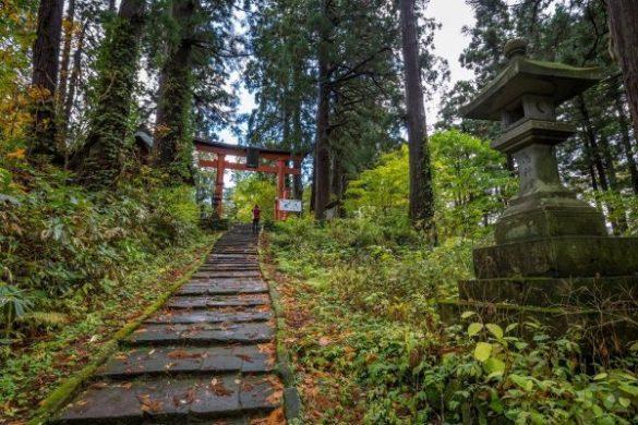 Il sentiero per il monte Haguro
