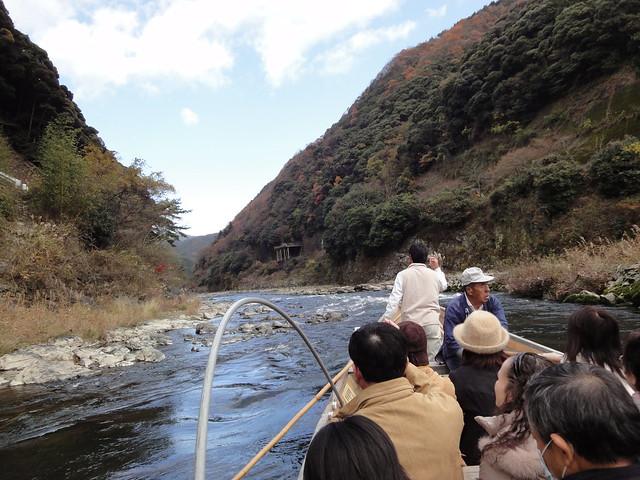 In barca da Kameoka ad Arashiyama