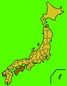 Shikoku giappone cartina