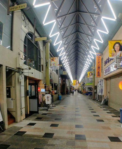 Un mercato coperto di Takamatsu