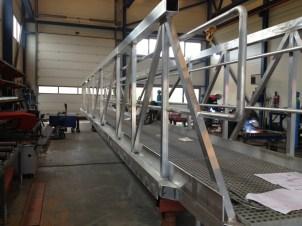 Prefabrikasjon - Landgang - Aluminiumsdelen