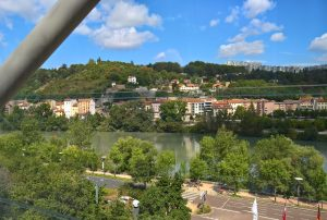 view from the office in Lyon