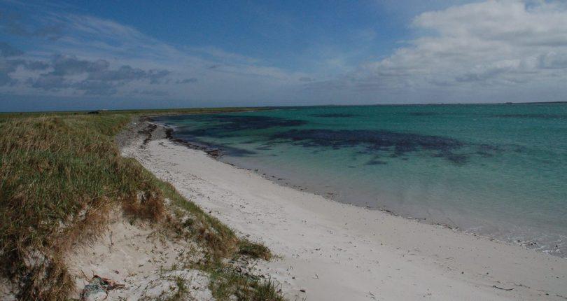 Sandy beach at Sanday